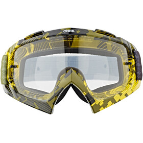 ONeal B-10 Goggle PIXEL neon yellow/green-clear